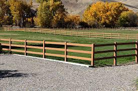 Dark Brown Vinyl Horse Fence Mocha Walnut Vinyl Horse Fence