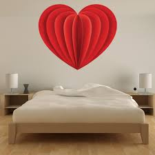 Red Heart Design Love Wall Decal Sticker Ws 46283 Ebay
