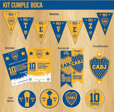 Boca Decoracion Cumple Futbol Kit Fiesta Invitaciones