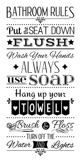 Bathroom Rules Wash Your Hands Wall Decal Bathroom Rules Bathroom Rules Sign Bathroom Signs