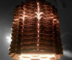 totally handmade cardboard pendant lamp