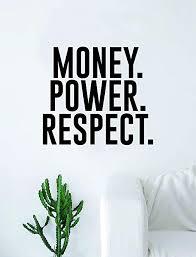 Amazon Com Boop Decals Money Power Respect Quote Wall Decal Sticker Room Art Vinyl Inspirational Decor Home Kitchen