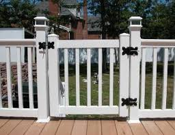 Vinyl Rail Gates Custom Built Gates In New Jersey Great Railing