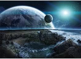 La luna y las estrellas del universo autoadhesivo a prueba de agua ...