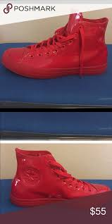 converse red patent leather size 11