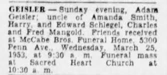 Adam Geisler Obituary - Newspapers.com