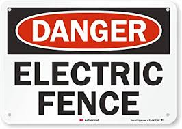Danger Electric Fence Sign By Smartsign 7 X 10 3m Reflective Aluminum Amazon Com Industrial Scientific