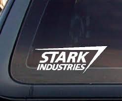 Stark Industries Car Decal Sticker Mymonkeysticker Com