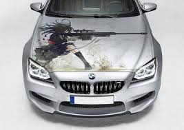 Vinyl Car Hood Anime Girl With Rifle Graphics Decal Sticker Etsy