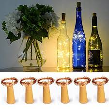 copper wire 20 led bottle cork