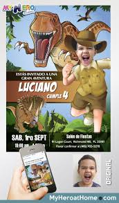 Dinosaurs Party Dinosaurs Invitation Invitaciones De