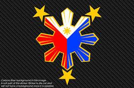 Filipino Pride Window Decal Sticker