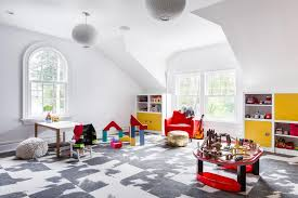 Neutral Playroom With Kid Friendly Carpet Tiles Hgtv