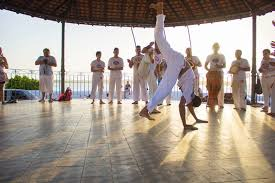 capoeira work with mestre