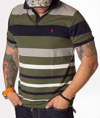 ralph lauren polo shirt striped green