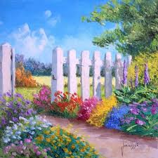 High Quality Oil Painting Canvas Reproductions White Fence By Jean Marc Janiaczyk Hand Painted Painting Calligraphy Aliexpress