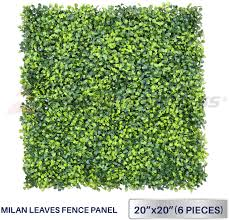Windscreen4less Artificial Faux Ivy Leaf Decorative Fence Screen 20 X 20 Boxwood Milan Leaves Fence Patio Panel 6 Pcs Amazon Ca Home Kitchen