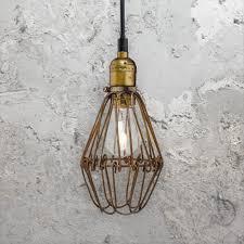 rustic cage pendant light cl 36787 e2