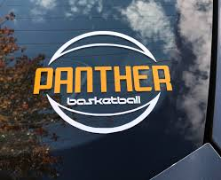 Panther Basketball Window Decal Head 2 Toe Design