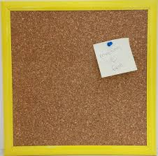 Amazon Com Cork Board Overall Size 13x13 With Yellow Frame Bulletin Boards Office Products