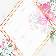 إطار الزفاف الإبداعية مع خلفية الزهور المائية بطاقة زهري دعوة