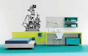 Pirate Ship Boat Wall Decal Sticker Boys Room Decor Art Pirates Lettering 492 Ebay