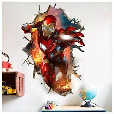 3d Marvel S Avengers Movie Wall Stickers For Kids Room Diy 45 60cm Posters