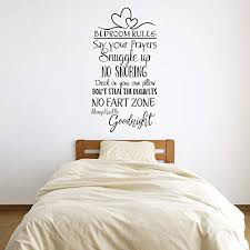 Amazon Com Bedroom Rules Vinyl Wall Words Decal Sticker Graphic Handmade