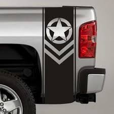 Army Star Chevron Truck Bed Stripe Decals Calcomanias Para Coches Calcomania Para Auto Vinilos Para Autos