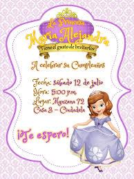 Invitacion Princesita Sofia Invitaciones Princesa Sofia