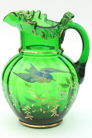 antique hand painted blown glass