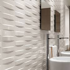14 sf grid white glossy 3d wall tile