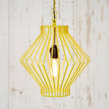 asha metal wire pendant light paper high