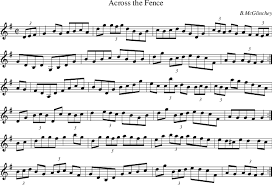 Across The Fence On Folk Tune Finder