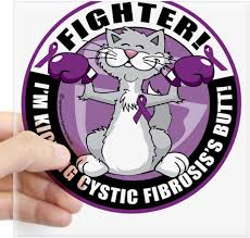 Amazon Com Cafepress Cystic Fibrosis Cat Fighter Square Sticker Square Bumper Sticker Car Decal 3 X3 Small Or 5 X5 Large Home Kitchen