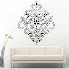 Mandala Vinyl Wall Decal Floral Art Yoga Room Hinduism Meditation Wall Sticker Home Decor Hj1033 Wall Stickers Aliexpress