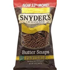 snyders pretzels er snaps flavored