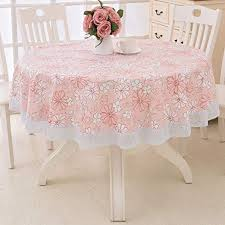 round oilcloth lace tablecloth
