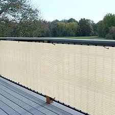 Amazon Com E K Sunrise 3 X 40 Privacy Fence Screen Mesh For Balcony Porch Deck Outdoor Protection Fencing Shield Net Patio Pool Backyard Rails Balcony Beige 200gsm Customized Garden Outdoor