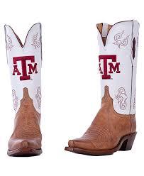texas a m lucchese womens white boot