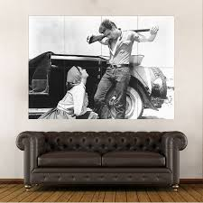 James Dean And Elizabeth Taylor In Giant Block Giant Wall Art Poster