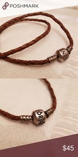 pandora double loop leather bracelet