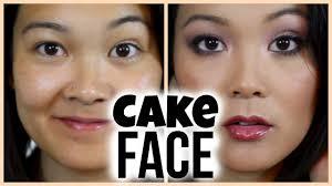 cake face makeup tutorial you