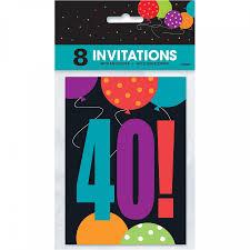 Cumpleanos De Alegria De 40 Invitaciones De Cumpleanos 8pk