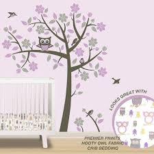 Owl Tree Wall Decals Owl Nursery Theme Tree Wall Decals To Etsy Owl Themed Nursery Grey Owl Nursery Owl Nursery