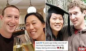 Mark Zuckerberg celebrates 16th 'dating' anniversary with wife Priscilla |  Daily Mail Online