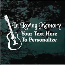 Acoustic Guitar Decals Car Window Stickers Decal Junky