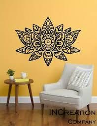 Mandala Lotus Vinyl Wall Decal Buddhism Wall Sticker Home Decor Bedroom Yoga Ebay