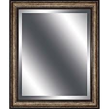 noma antique gold 36 x 30 wall mirror