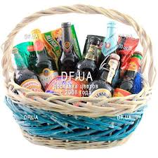gift basket for a man on his birthday